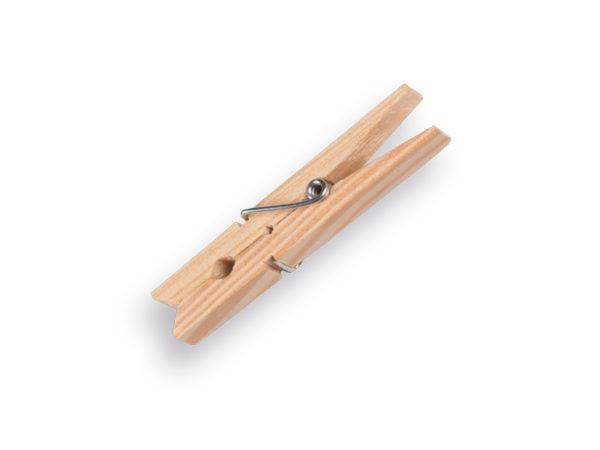 Wasknijper van hout, verpakt per 48 stuks.