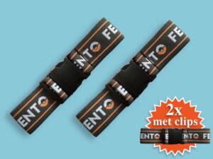 Set elastieken met clip voor Fento 200 kniebeschermer